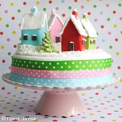 Snowy Village Christmas cake recipe