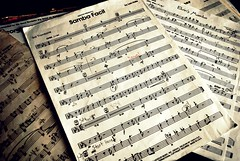 writing(0.0), newspaper(0.0), sheet music(1.0), handwriting(1.0), text(1.0), music(1.0), line(1.0), font(1.0), document(1.0),