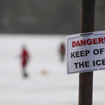 Danger - keep off the ice