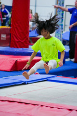 floor gymnastics(0.0), table tennis(0.0), individual sports(1.0), sports(1.0), gymnastics(1.0), gymnast(1.0), artistic gymnastics(1.0),