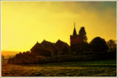 old winter light sunset abandoned church overgrown beautiful beauty wales architecture landscape evening ancient carmarthenshire quiet dusk memories orton gloaming collapsing towyvalley stedgwads