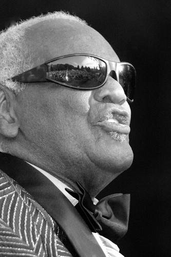 • Ray Charles, 2003 Santa Cruz BluesFest, on Memorial Day
