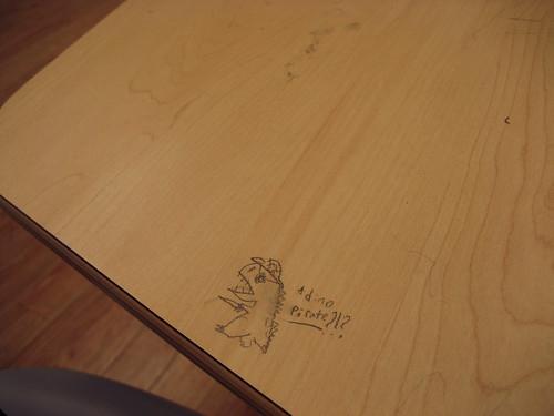 On a desk.