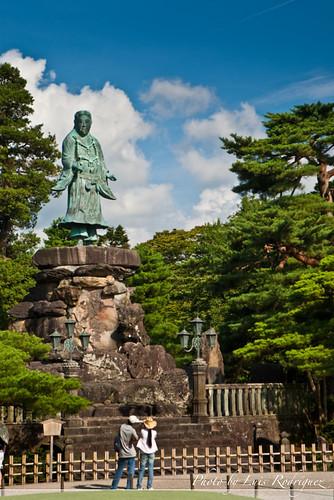 Estatua de Yamato Takeru en el Kenroku-en - 無料写真検索fotoq