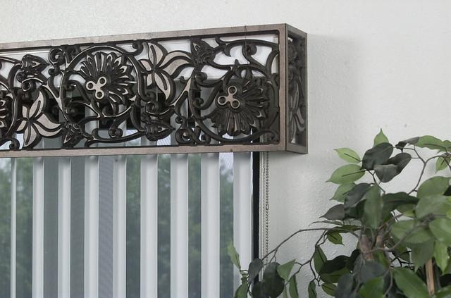Wrought Iron Cornice : Faux wrought iron cornice window treatment flickr