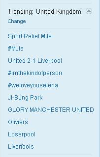 Oh My God! Ji-Sung PARK is on UK @Twitter Trending Keyword!!!