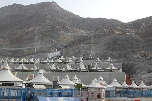 The tents of Mina, Saudi Arabia  en.wikipedia.org/wiki/Mina