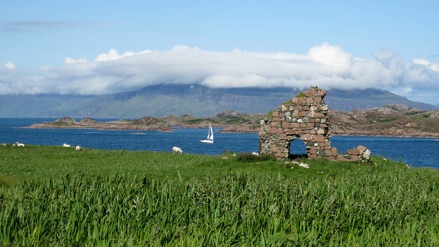 Scotland, Mull from iona island