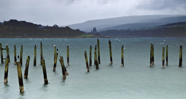 Remains of an old pier