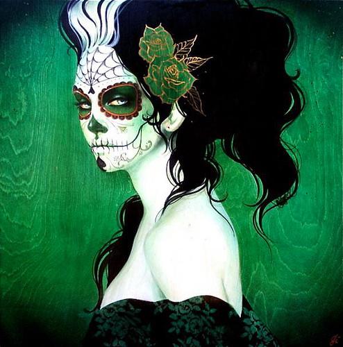 Face paint a gallery on flickr - Maquillage dia de los muertos ...