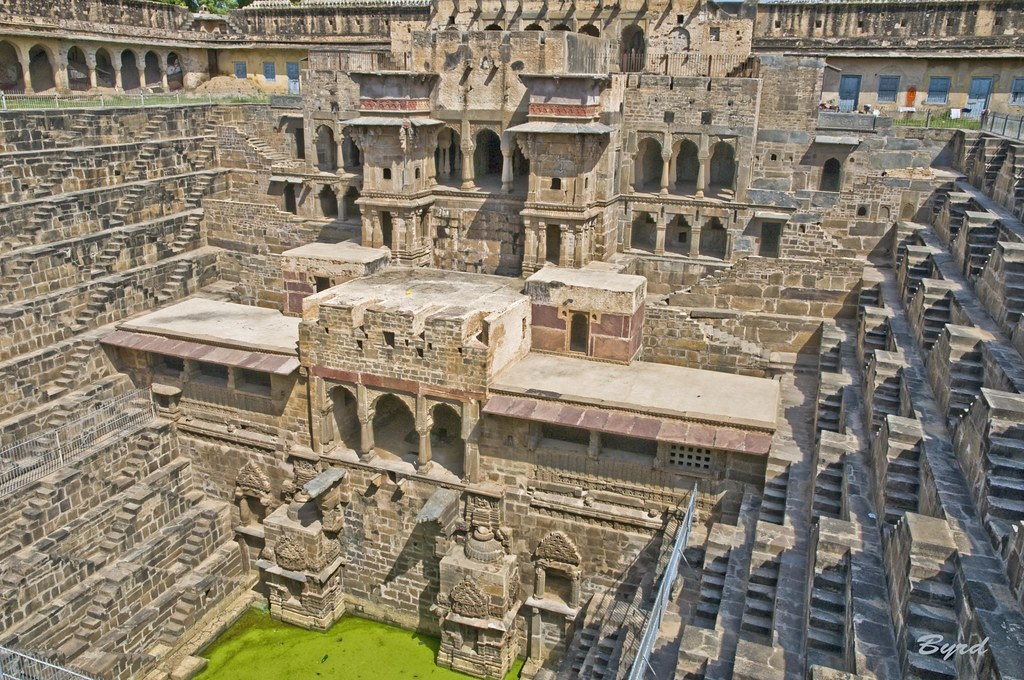 Chand Baori - Abhaneri step well (10th Century), Rajasthan, N. India