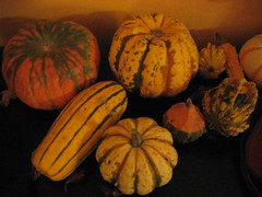 carving(0.0), flower(0.0), plant(0.0), painting(0.0), autumn(0.0), art(1.0), pumpkin(1.0), calabaza(1.0), produce(1.0), food(1.0), winter squash(1.0), still life photography(1.0), still life(1.0), cucurbita(1.0), gourd(1.0),