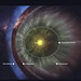 Solar wind extent - Sun, Termination shock, Heliosheath, Heliopause, Bow shock located