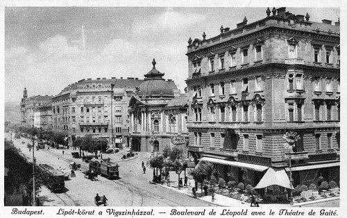 Old postcards of Budapest – Leopold Boulevard with the Gaité Theatre