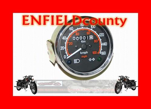 new royal enfield black face speedometer mph kph dual reading ecspares ebay. Black Bedroom Furniture Sets. Home Design Ideas