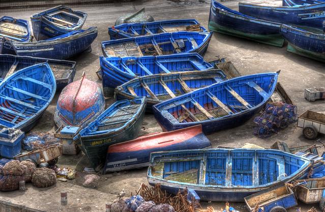 Essaouira, Blue Fishing Boats