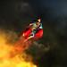 Superman Through the flames by Cihan Unalan