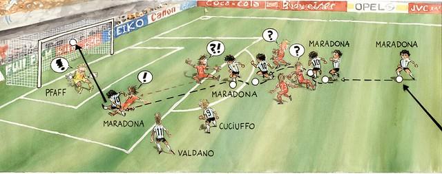 1986 Maradona scores against Belgium