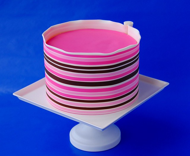 Cake Art Modeling Chocolate : Pink Striped Cake in Modeling Chocolate Flickr - Photo ...