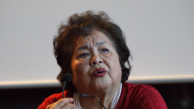 Berlin-Besuch Setsuko Thurlow, Sony DSLR-A380, Tamron AF 70-300mm F4-5.6 Di LD Macro 1:2