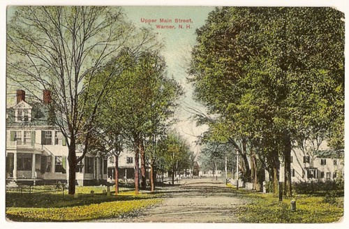 Wonderful Vintage Postcard showing Upper Main Street, Warner New Hampshire - 1910