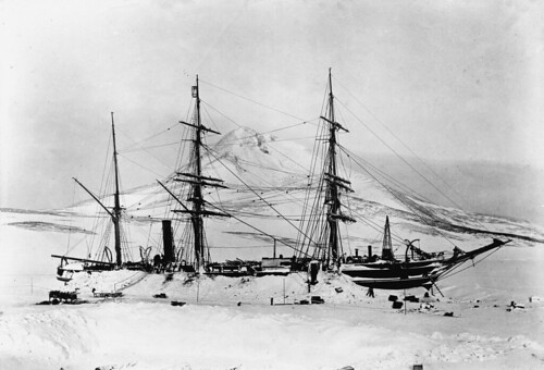 The ship Discovery, Antarctica, 1901