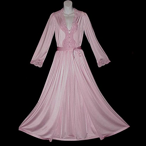 rose pink lily of france vintage nightgown and peignoir set flickr photo sharing. Black Bedroom Furniture Sets. Home Design Ideas
