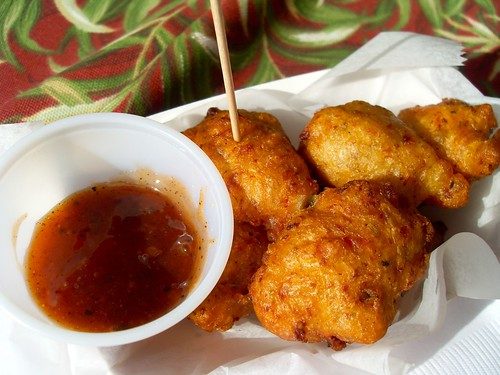 West African Eba Onion Fritters Recipe by Bob B Brown