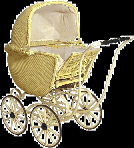 Vintage Baby Carriage Cake Topper