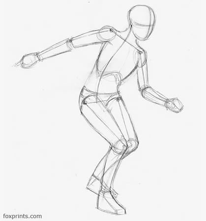 How To Draw Running Figure