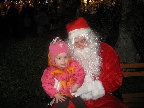 A visit with Santa- Tree Lighting Ceremony 2009