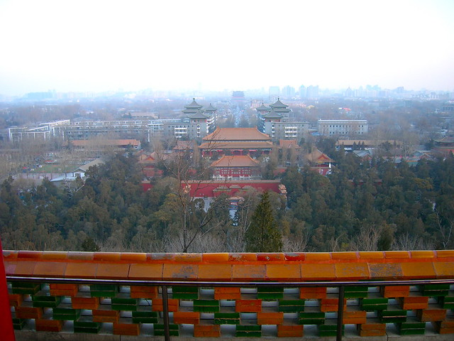View from Jingshan Park in Beijing by CC user donotlick on Flickr