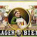 Lager bier, stock advertising poster, 1879