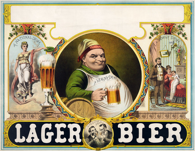 Lager bier, stock advertising poster, 1879