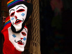 Peru Travel: Andean masks in Cusco