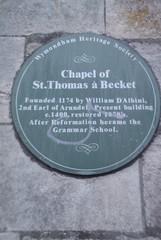 Photo of William d'Aubigny green plaque