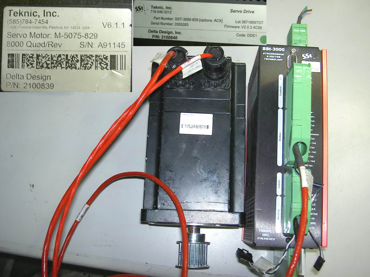 Teknic sst 3000 829 servo drive m 5075 829 servo motor ebay for Servo motors and drives inc