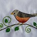 Robin Hand Towel --- Closer
