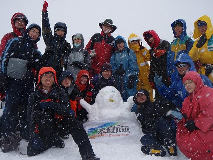 哭坡觀景台雪人