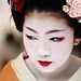 face / portrait / people / girl / red lips / make up : maiko (geisha apprentice) kyoto, japan / canon 7d by momoyama