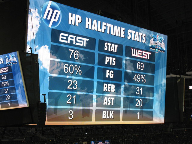 Hp halftime stats at the nba all stars 2010 flickr photo sharing