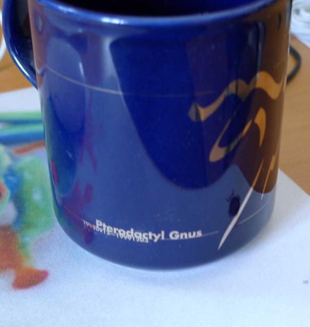 Pterodactyl Gnus coffee mug 2