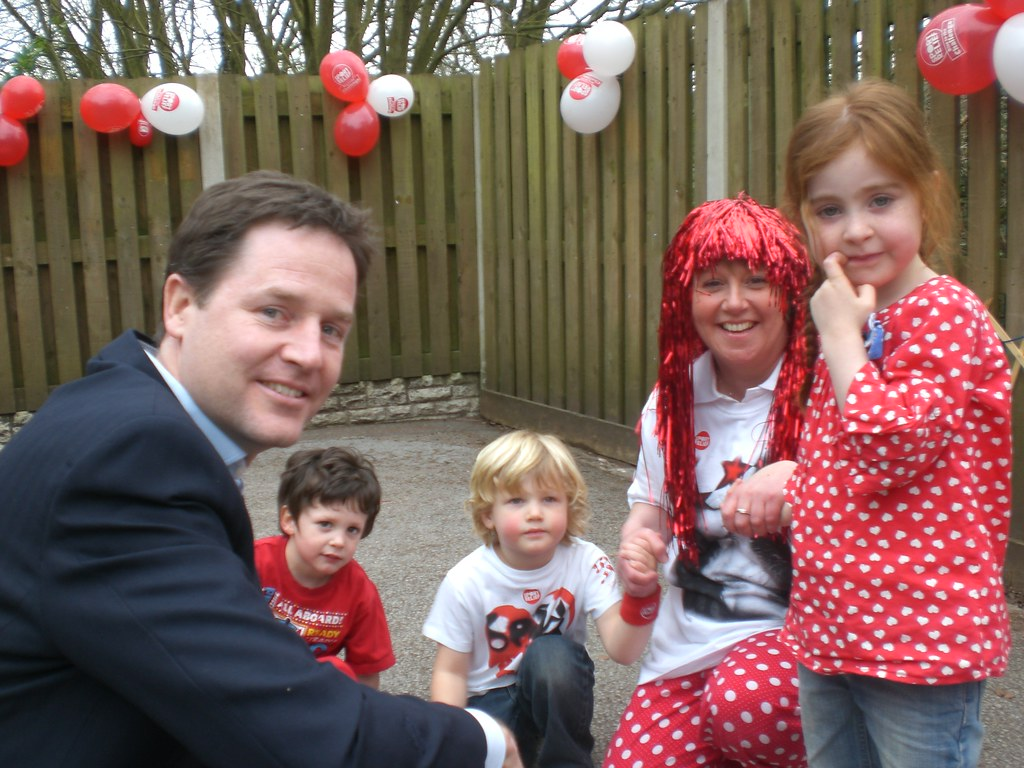 Nick Clegg, Lodge Moor Nursery School, Sheffield