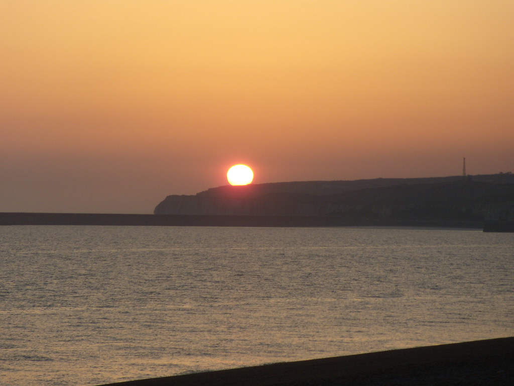 Volcanic sunset...... ...allegedly. Seaford. Berwick to Seaford