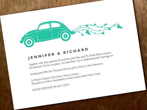 Printable Wedding Invitation - Beetle
