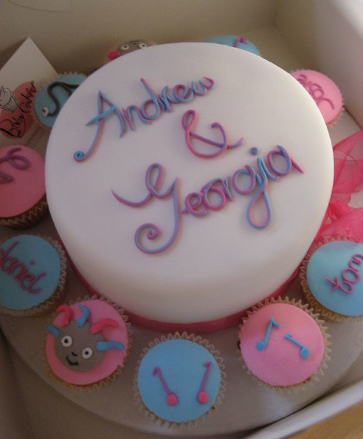 Father and daughter birthday cake and cupcakes  Flickr - Photo ...