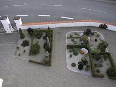 Kirkegården set fra sydvest - tårnfoto
