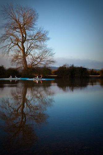 morning light reflection tree ford weather sunrise reflections early row oxford rowing oxfordshire rower rowers