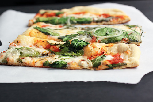 Spinach bruschetta onion pizza 120 dpi