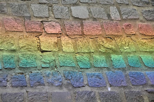 Concrete Rainbow Refracted From Mirror
